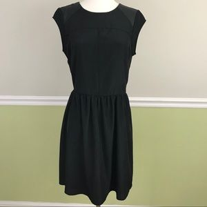 Women's Mossimo Black Faux Leather Sleeve Dress L